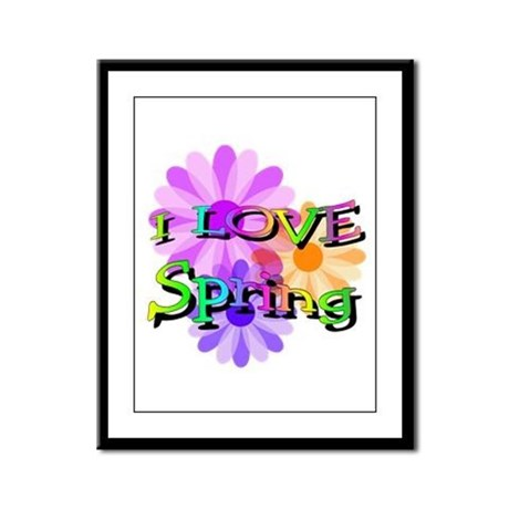 Love Spring Framed Panel Print