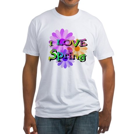 Love Spring Fitted T-Shirt