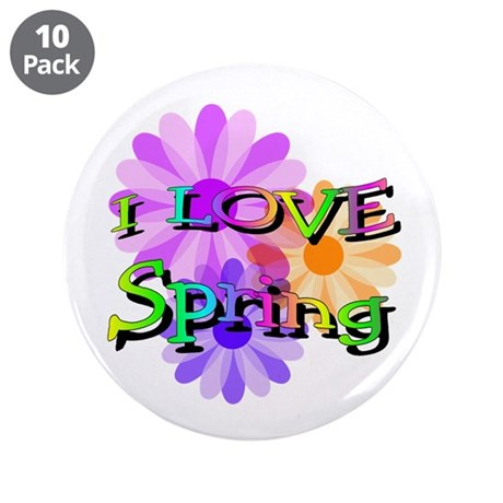 "Love Spring 3.5"" Button (10 pack)"