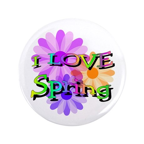 "Love Spring 3.5"" Button"