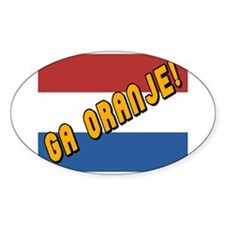 Ga oranje Flag Oval Decal