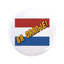 "Ga oranje Flag 3.5"" Button (100 pack)"