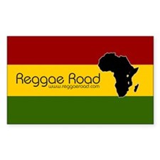 Reggae Road Africa Rectangle Decal