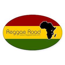 Reggae Road Africa Oval Decal