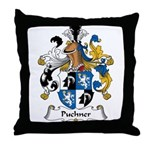 Puchner Family Crest Throw Pillow