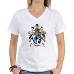 Puchner Family Crest Women's V-Neck T-Shirt