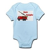 """Junior Firefighter"" with fire truck Infant Creepe"