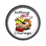 Nothing But... Courage Wall Clock