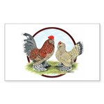 Belgian d'Uccle Bantams Rectangle Sticker 50 pk)