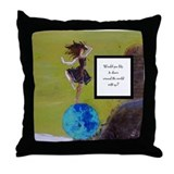 """I'll Back You Up"" Throw Pillow"