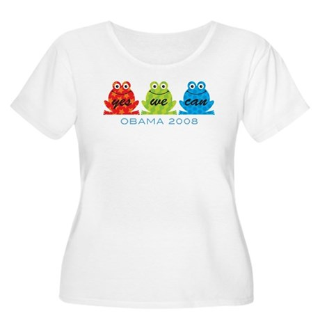 Obama Frogs Yes We Can Women's Plus Size Scoop Nec