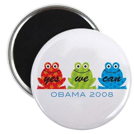 "Obama Frogs Yes We Can 2.25"" Magnet (10 pack)"