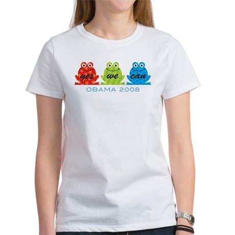 Obama Frogs Yes We Can Women's T-Shirt