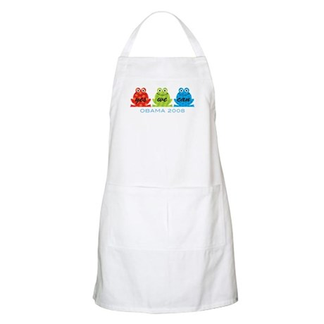 Obama Frogs Yes We Can BBQ Apron