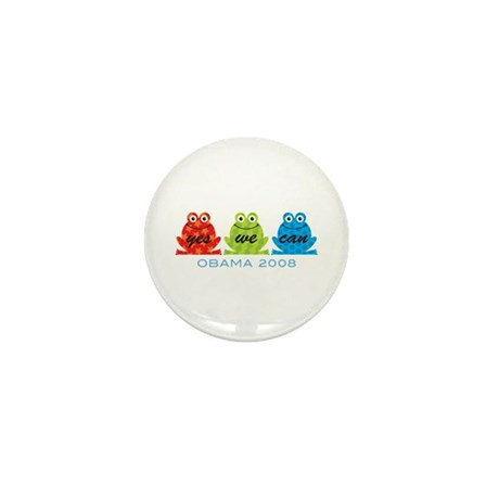 Obama Frogs Yes We Can Mini Button