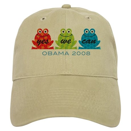 Obama Frogs Yes We Can Cap