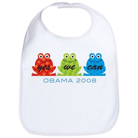 Obama Frogs Yes We Can Bib