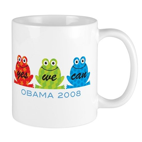 Obama Frogs Yes We Can Mug