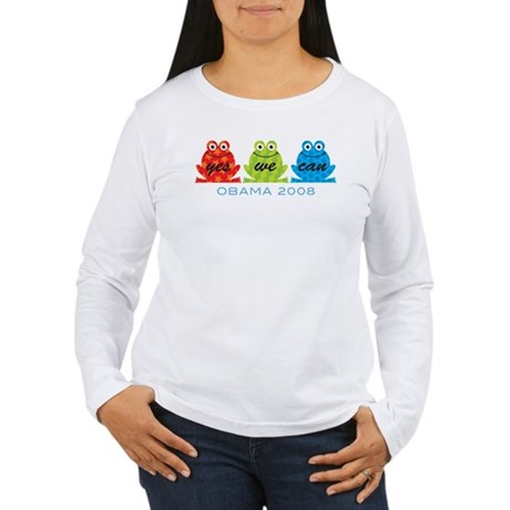 Obama Frogs Yes We Can Women's Long Sleeve T-Shirt