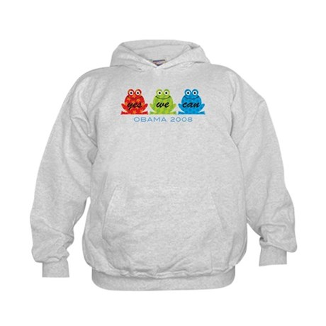 Obama Frogs Yes We Can Kids Hoodie