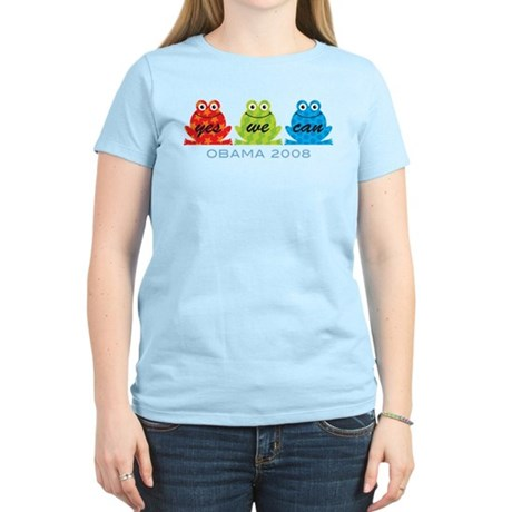 Obama Frogs Yes We Can Women's Light T-Shirt
