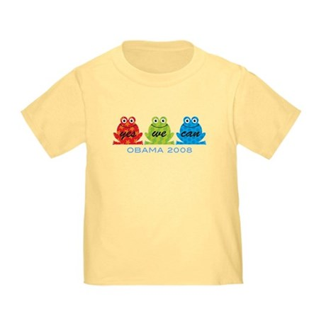 Obama Frogs Yes We Can Toddler T-Shirt