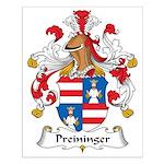 Preininger Family Crest Small Poster
