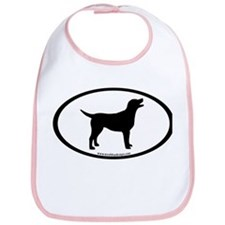 labrador retriever oval Bib