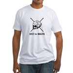 Knit for Brains - Brains Skull Fitted T-Shirt