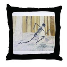Run Skeleton Throw Pillow