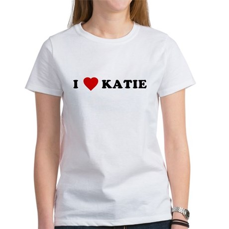 I Love [Heart] Katie Womens T-Shirt