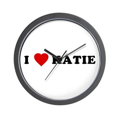 I Love [Heart] Katie Wall Clock