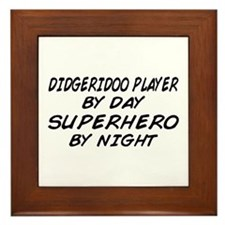 Didgeridoo Superhero by Night Framed Tile