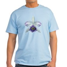 Blue Cat Orchid Ash Grey T-Shirt
