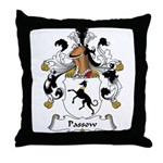 Passow Family Crest Throw Pillow