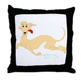 Fawn Greyhound Throw Pillow