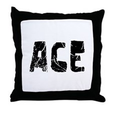 Ace Faded (Black) Throw Pillow