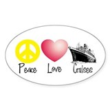 Peace, Love, Cruises Oval Decal