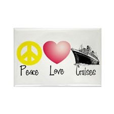 Peace, Love, Cruises Rectangle Magnet (10 pack)
