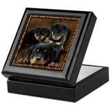 Rottweiler Rottie Puppies Keepsake Box