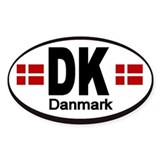 Denmark Automobile Identification Bumper Stickers