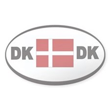 Denmark Automobile Identification Sticker -2-