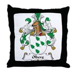 Olberg Family Crest Throw Pillow