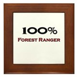 100 Percent Forest Ranger Framed Tile
