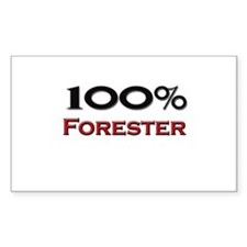 100 Percent Forester Rectangle Decal