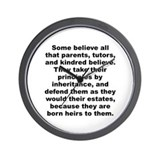Watts quotation Wall Clock