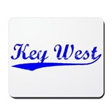 Vintage Key West (Blue) Mousepad