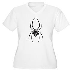 Tribal Spider Women's Plus Size V-Neck T-Shirt