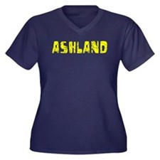 Ashland Faded (Gold) Women's Plus Size V-Neck Dark