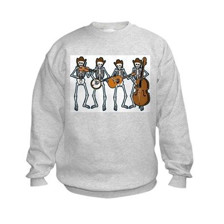 Cowboy Music Skeletons Kids Sweatshirt